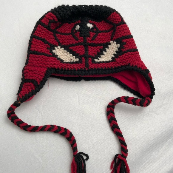 82e14aa79f6b19 Tambaco Knits Accessories | Handknit Spiderman Hat With Fleece ...